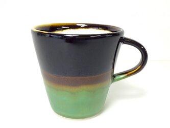 Meoto cup/S ''Mug''(Kuro tenmoku-bronze)の画像