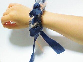 糸✖布シュシュ #5の画像