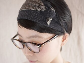 resale▼ patchwork turban <navytone>の画像