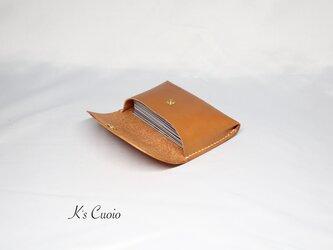 ヌメ革 一枚革で作るカードケース(キャメル色)の画像
