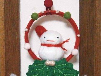 クリスマスリースの画像