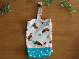 【再販】通園・通学が楽しくなる♪シューズ袋♪(ブルーグリーン)の画像