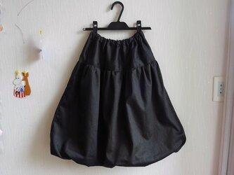[再販]ブラックデニム大人バルーンスカートの画像