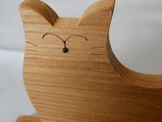 ネコの携帯電話&スマホスタンドの画像