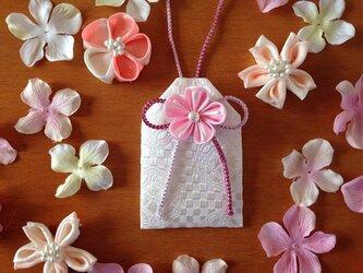 <サイズオーダー>元巫女が作る桜のお守り袋(桜)<受注製作>の画像