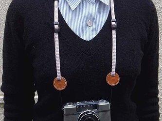 チェッカー カメラストラップ/ミラーレスカメラ、丸穴用/送料無料の画像