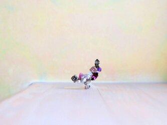 ::: Mi♭::: スワロフスキーと天然石のイヤーカフ 紫の画像