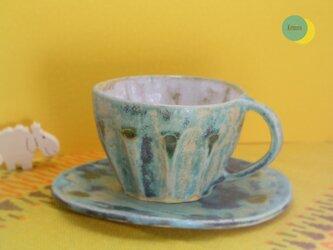 ドットのカップ&ソーサーの画像