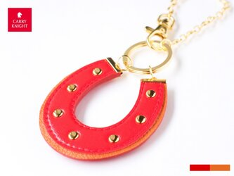 HORSESHOE CHARM 【red×orange】の画像