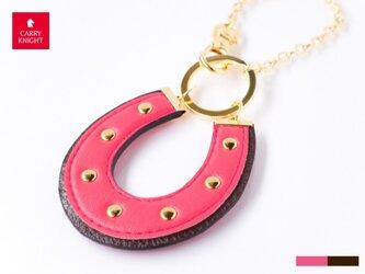 HORSESHOE CHARM 【rose pink×choco】の画像