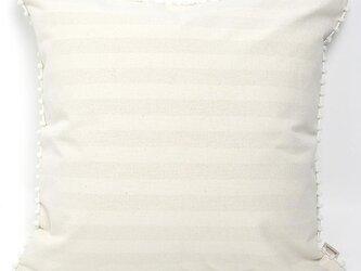【カバーのみ】canvas stripes  クッションカバー pompon SQの画像
