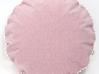【カバーのみ】canvas plain クッションカバー pompon Rの画像