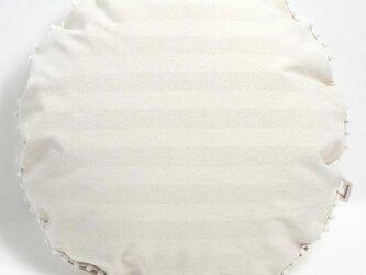 【カバーのみ】canvas stripes クッションカバー  pompon Rの画像