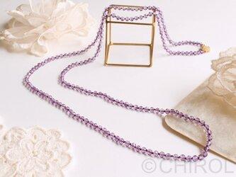 ・ピンクアメジストネックレス・の画像