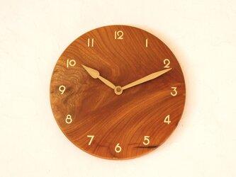 掛け時計 丸 けやき材⑲の画像