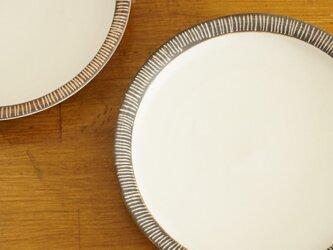 しましまリム皿の画像