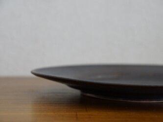 鉄マットリム皿 大の画像