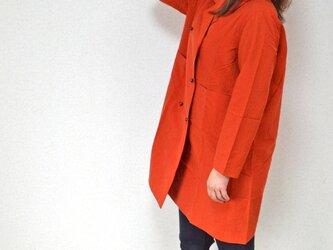風よけコート ダブルボタン・オレンジ           ..3247の画像