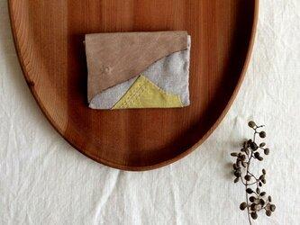 送料無料◆草木染め カード入れの画像
