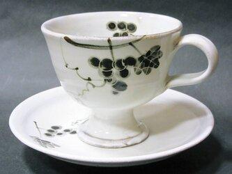 粉引唐津コーヒーカップ(葡萄)の画像