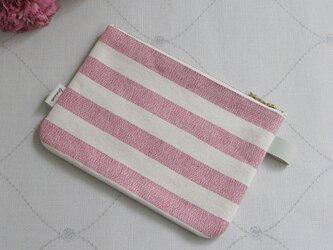 canvas stripes スリムポーチの画像