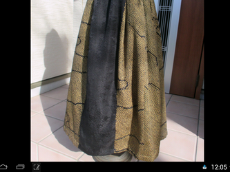 シックな着物リメーク・ロングスカート… 裏付き … 一点品の画像