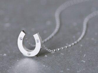 Louis 馬蹄 ペンダント ネックレス シルバー925の画像
