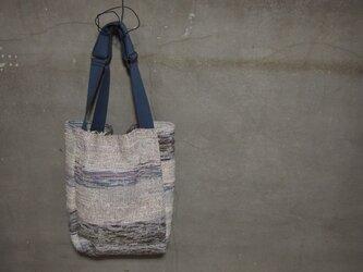 裂き織り/白縞ノトートバッグ (+orimi)の画像