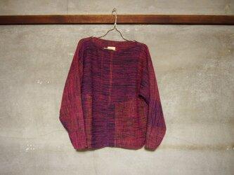 手織り/wool sweater ▽tutujiト瑠璃 (+orimi)の画像