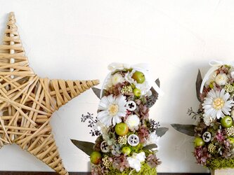 ホワイト 年中飾れる!植木感覚 ナチュラルツリー プリザーブドフラワー  トピアリー  ギフト   北欧の画像