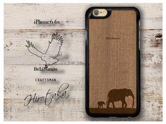 ゾウが大好きな方々とっての最高のiPhone6 6s ケース ブラック(親子ゾウ)の画像