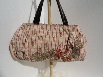 ピンクお花バッグの画像