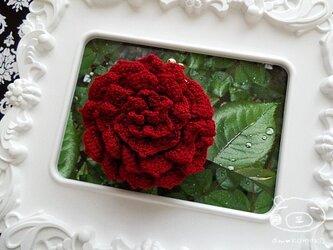 【レッドver.】薔薇のがま口の画像
