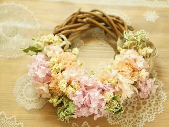 pink pink wreathの画像