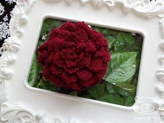 【ワインver.】薔薇のがま口の画像