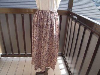 着物リメイク 綸子のスカート86cm J-2の画像