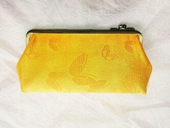 蝶の春 長財布 シルク の画像