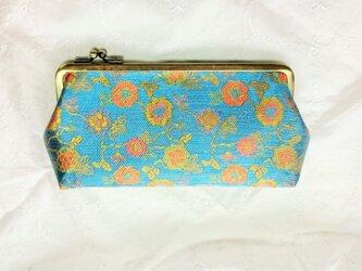 水の春 絹 西陣織長財布の画像