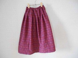 レトロな紬の着物リメイクスカートの画像