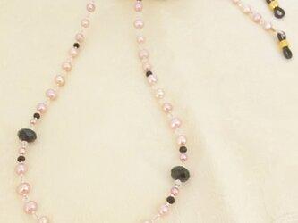 めがねチェーン パール ピンクの画像