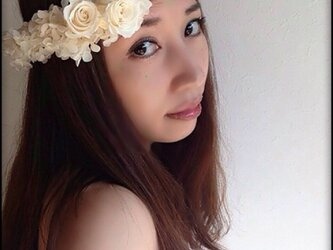 花冠 プリザーブドフラワーの画像