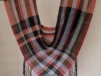 手織りメビウスストールの画像