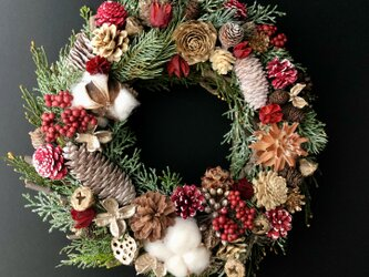 Pine wood wreathの画像