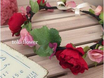 toka*miniローズの花かんむり #10の画像