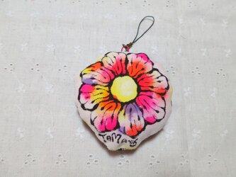 お花のストラップ(ピンク) 01の画像