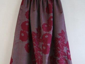 赤紫 交織 ギャザースカート Fサイズの画像