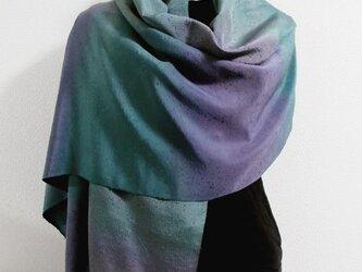 シルクストール(片側縞模様・青紫ボカシ染)の画像