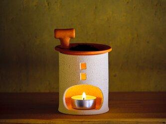 【予約販売】アロマ&茶香炉(煙突おうち)- タイプA(シロ)※抗菌や消臭、風邪予防にも◎の画像