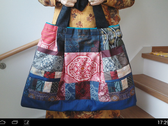 大島紬大型トートバッグ くろざえもん様ご依頼品 … 予約済み … 一点品の画像