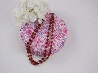 赤メノウの天然石のネックレス~~~の画像
